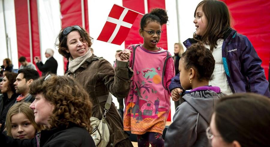 Arkivfoto fra statsborgerdag på Christiansborg. Nye statsborgere var inviteret til fest og til at komme indenfor i Folketinget for at møde partierne.