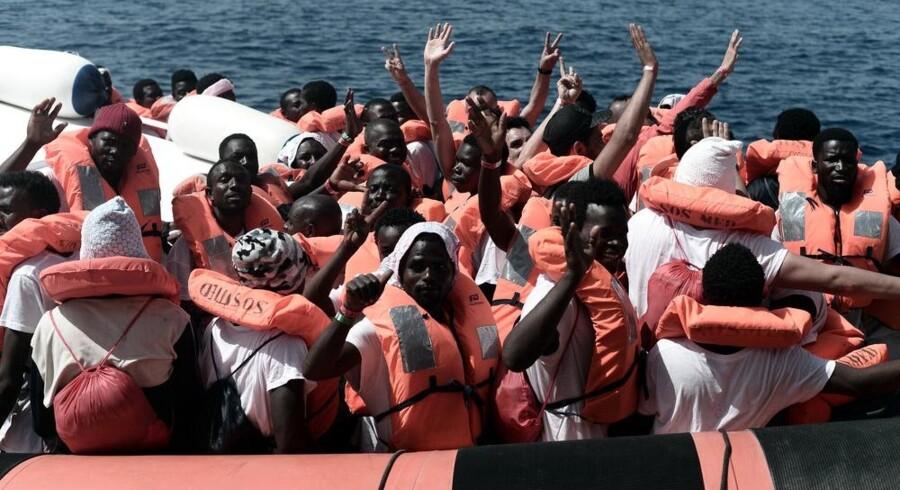 Italien vil donere 12 fartøjer til den libyske kystvagt for at begrænse antallet af migranter, der søger over Middelhavet mod Europa. Kenny Karpov/arkiv/Ritzau Scanpix