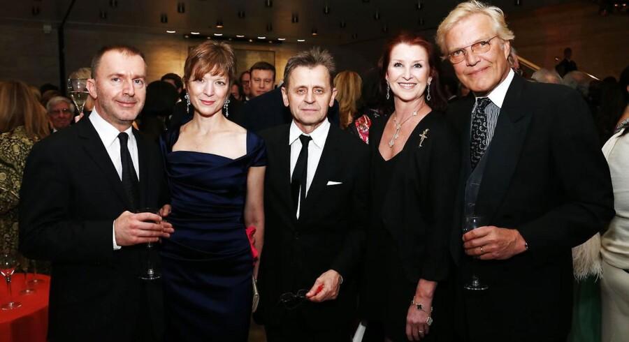 ARKIVFOTO: Den mangeårige leder af den verdensberømte New York City Ballet, Peter Martins (længst til højre), undersøges for beskyldning for seksuel chikane. På billedet, der er taget i 2013, er han sammen med Pedja Muzijevic, Lisa Rinehart, Mikhail Baryshnikov og Darci Kistler.