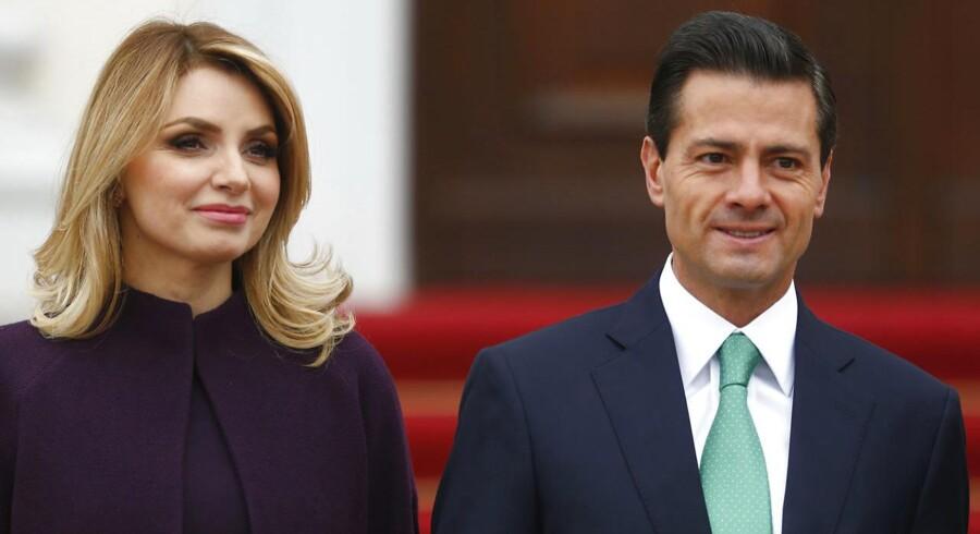 Mexicos præsident Enrique Peña Nieto og hustruen Angélica Rivera besøger Danmark efter invitationen fra dronning Margrethe.