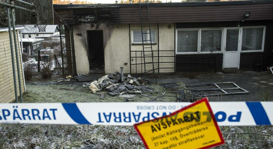 Endnu en asylbolig i Sverige blev søndag nat brændt af.