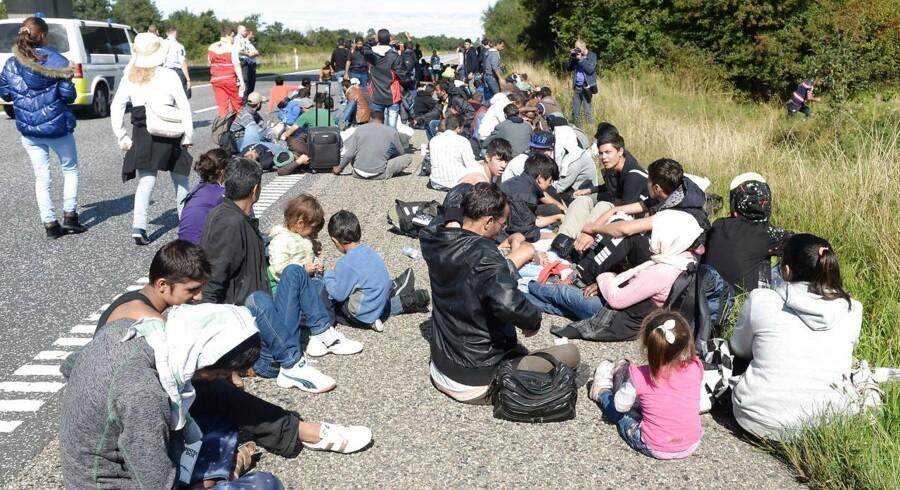 En større gruppe flygtninge har forladt deres opholdssted ved Padborg og vandrer på motorvejen. 18 danskere giver deres bud på, hvad de tænker på, når de hører ordet flygtningekrise.