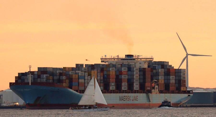 Raterne for containerfragt fik et pænt løft i denne uge. Arkivfoto.