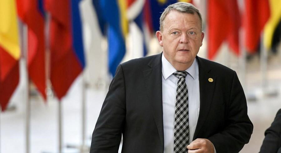 Lars Løkke Rasmussen. EPA/NICOLAS LAMBERT