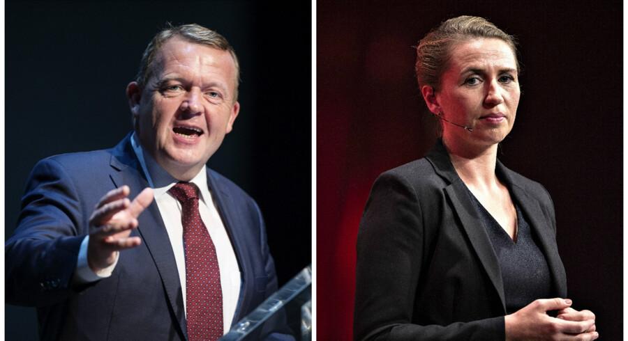 Både statsminister Lars Løkke Rasmussen (V) og Socialdemokratiets formand Mette Frederiksen (S) scorer lavt på karisma i ny måling.