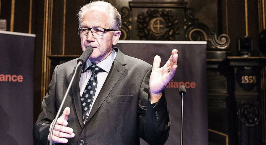 Landsformand og folketingsmedlem Leif Mikkelsen (I) til Liberal Alliances valgfest i Børsen ved Christiansborg på valgdagen, torsdag den 18. juni 2015.