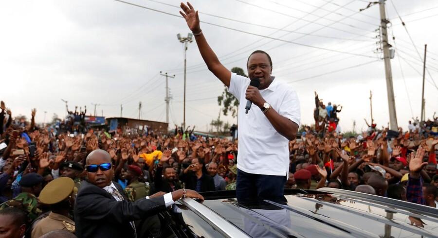Den kenyanske præsident, Uhuru Kenyatta.