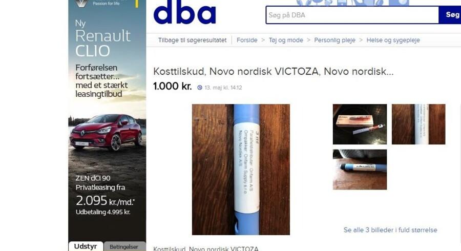 Screenprint fra Den Blå Avis mandag den 15. maj 2017