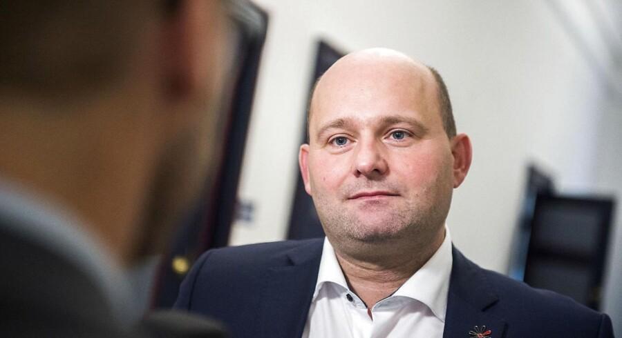 Konservatives formand, Søren Pape Poulsen, tager imod Statsministerens invitation til de kommende regeringsdrøftelser. Arkivfoto