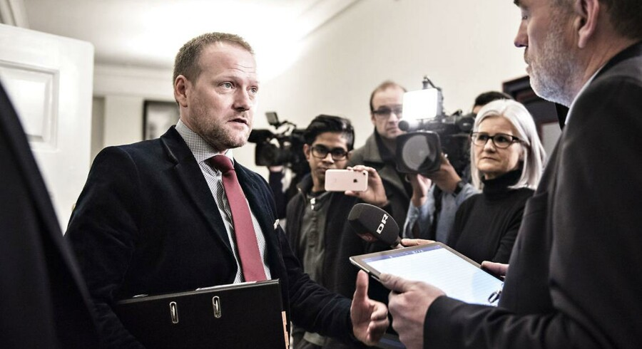»Vi ønsker, at toprocentskravet skal væk også gerne i 2018. Kan det lade sig gøre i 2018? Det mener vi faktisk godt, at det kan,« siger DF's finansordfører René Christensen under førstebehandlingen af finansloven.