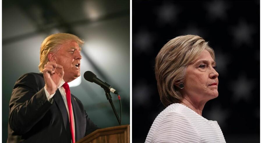 Donald Trump og Hillary Clinton.