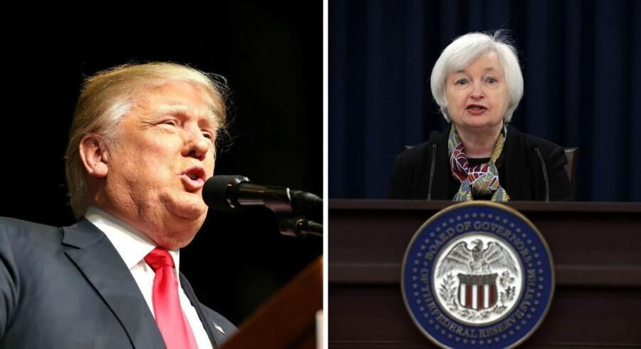 Det har vakt opsigt, at Donald Trump vil fyre den amerikanske nationalbankdirektør Janet Yellen på grund af partifarven.
