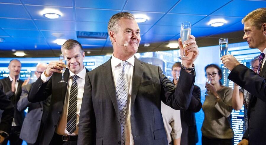 Adm direktør i Nets,Bo Nilsson, åbnede måske champagnen en omgang for tidligt. Nets-aktien har nemlig haft en rigtig dårlig første uge på børsen.