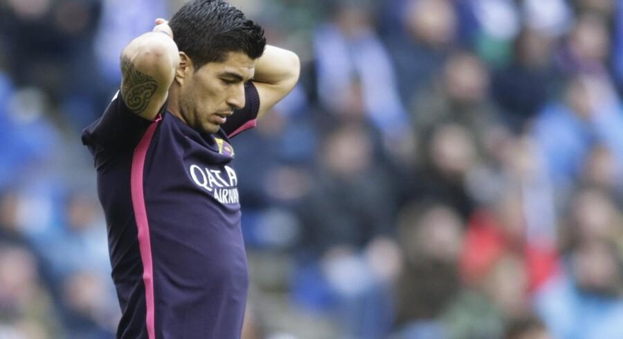 Luis Suarez' scoring var ikke nok for Barcelona. Reuters/Miguel Vidal