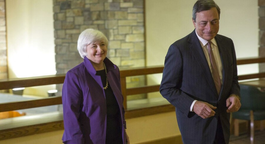 De finansielle markeder vil have øjnene rettet mod Janet Yellen og Marcel Draghi torsdag og fredag.