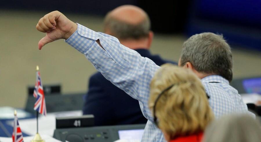 Torsdag stemmer EU-parlamentet (billedet) om et forslag om skærpede regler, der skal beskytte digitale ophavsrettigheder. Kritikere frygter, at loven vil føre til censur.