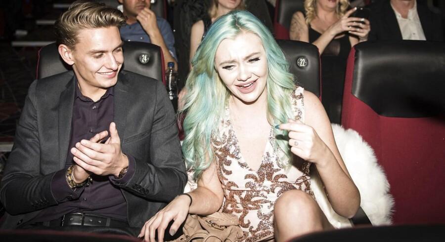 """Reality Awards 2017 i Imperial. Fie Laursen lige efter, at det er blevet offentliggjort, at hun har vundet årets bemærkning med: """"Fra nu af vil jeg være ærlig"""""""