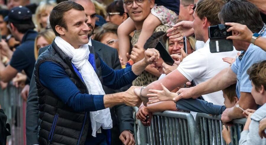 Arkivfoto.Præsident Emmanuel Macrons nystiftede parti, La République En Marche (LREM), står til at blive det største parti ved den første runde af valget til Frankrigs nationalforsamling. EPA/CHRISTOPHE PETIT TESSON