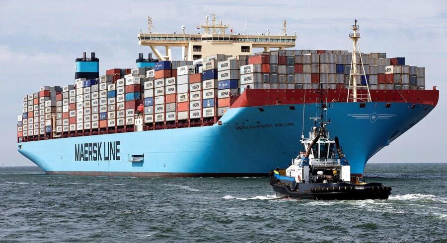 Arkivfoto. A.P. Møller-Mærsks aktier er igen ombejlede på fondsbørsen mandag efter shipping- og oliekoncernens regnskab torsdag. (Foto: © Michael Kooren / Reuters/Scanpix 2016)
