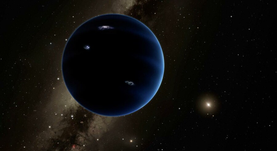 Man har endnu ingen billeder af den niende planet, men ifølge en illustration fra Caltech kunne den se sådan ud.