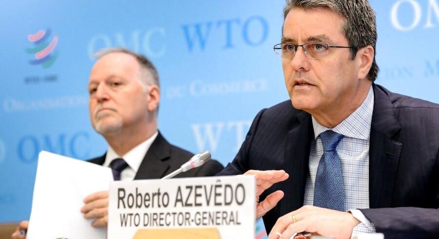 Generaldirektøren for WTO, Robert Azevedo.