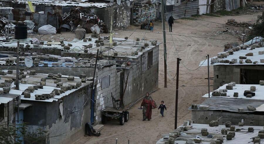 Khan Younis-flygtningelejren i den sydlige del af Gaza-striben.
