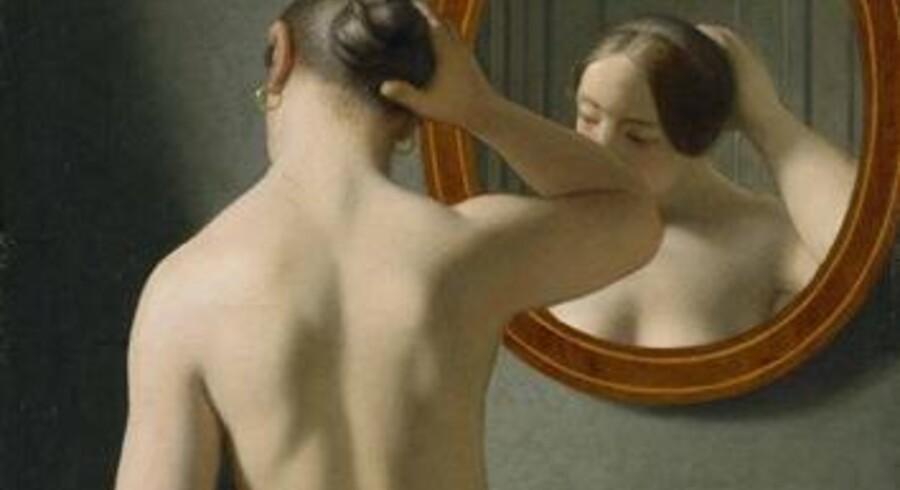 C.W. Eckersbergs berømte billede »Kvinde foran spejl«.