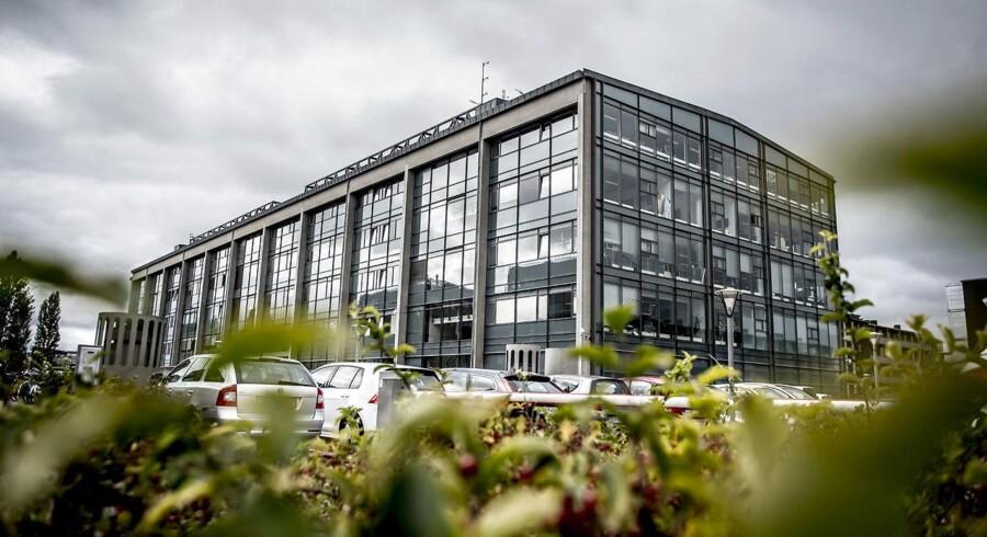 TV 2 holder blandt andet til på Teglholmen i København.