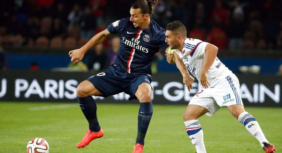 Paris Saint-Germain og Zlatan måtte nøjes med 1-1 mod Lyon.