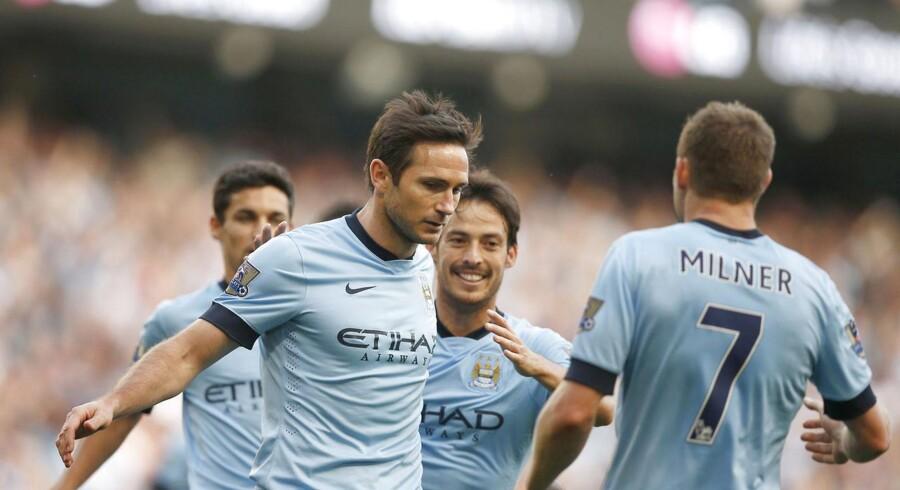Frank Lampard scorede mod sin tidligere klub Chelsea i søndagens pointdeling.