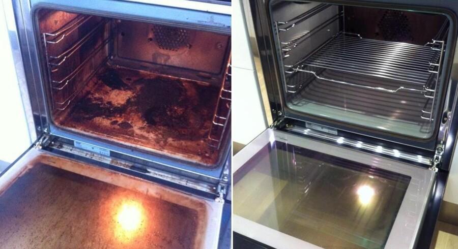 Det er dette billede, der sammen med et råd om at bruge salmiakspiritus til at rense ovnen, er blevet delt voldsomt på de sociale medier.