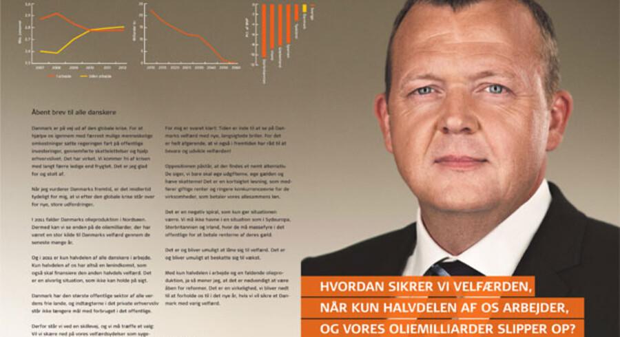 Venstres annonce med Lars Løkke Rasmussen. Du kan se den i fuldt format her.