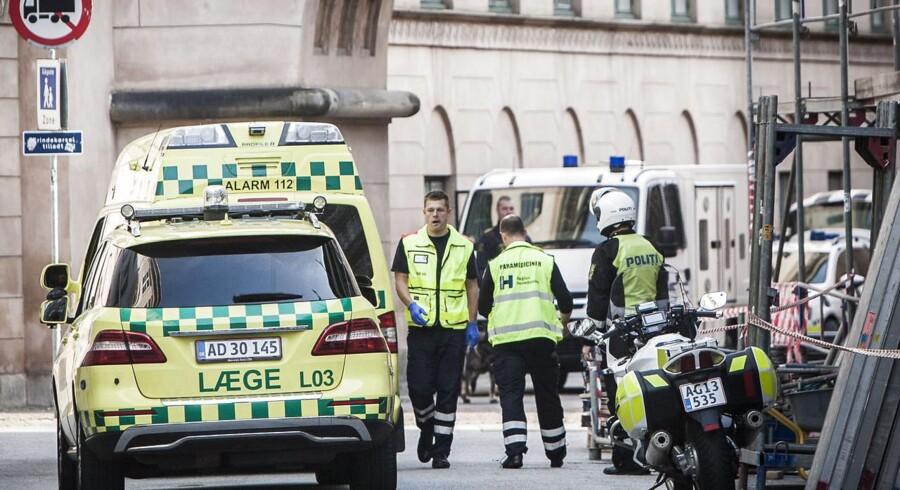 En 67-årig bedstefar skød tirsdag en advokat og sårede en 31-årig far hårdt i vrede over en fogedsag. Foto: Jens Astrup