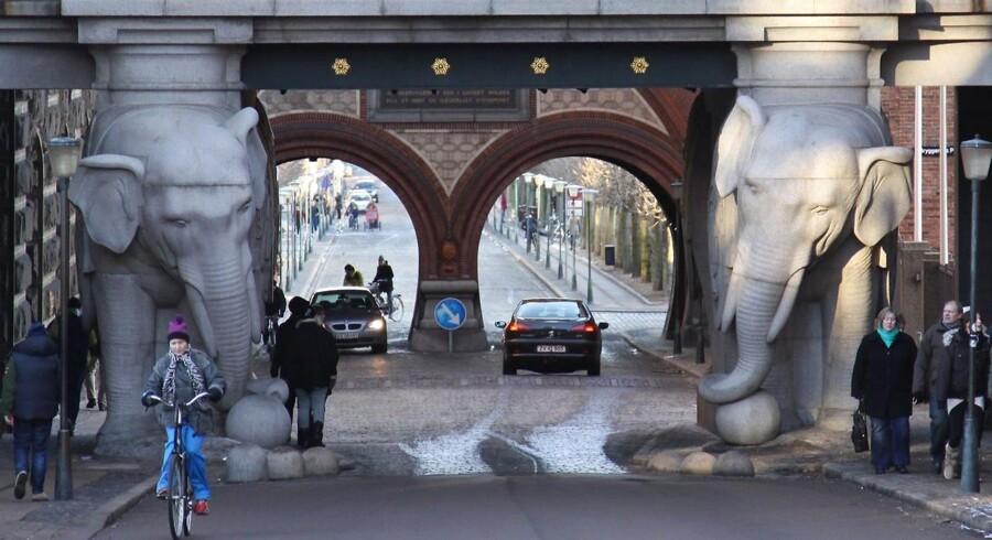 Carlsberg bryggeriernes gamle grund i Valby, her ved Elefantporten.