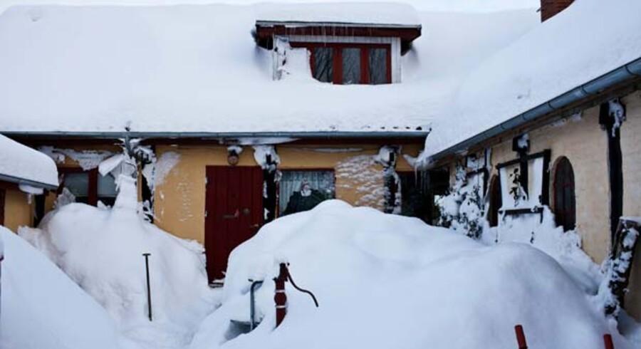 Mange bornholmere har været sneet inde i dagevis.