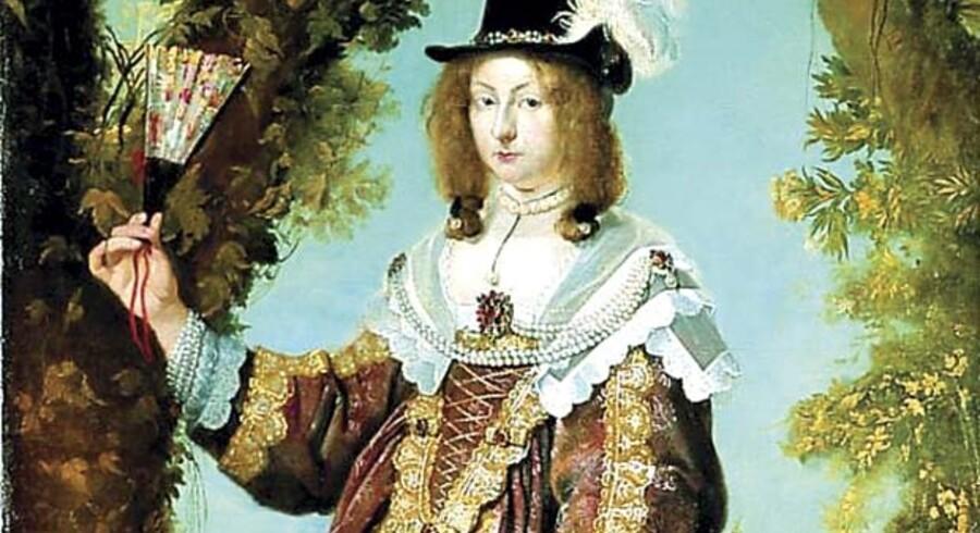 Leonora Christina var datter af Christian IV, og hun og hendes mand, Corfitz Ulfeldt, var blandt de mest betydningsfulde danskere, da dette billede blev malet i 1643, samme år som Ulfeldt blev udnævnt til rigshofmester. Billedet er af Karel van Mander og hænger på Frederiksborgmuseet.