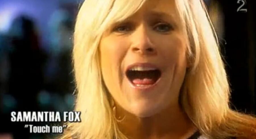 "Samantha Fox fra videoen ""Let It Be - Gyldne Tider"""
