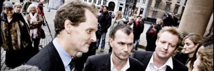 Fra venstre: Chefredaktør Niels Lunde, journalist Michael Bjerre og journalist Jesper Larsen. Foto: Linda Henriksen