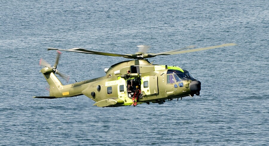 Temadag med Forsvarets redningshelikoptere EH 101.ved Christiansminde