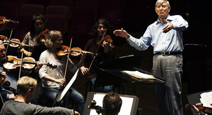 DR SymfoniOrkestret inviterer til 10 åbne generalprøver i Koncerthuset. Her ses orkestret under en prøve i oktober 2013 med den 86-årige æresdirigent Herbert Blomstedt.