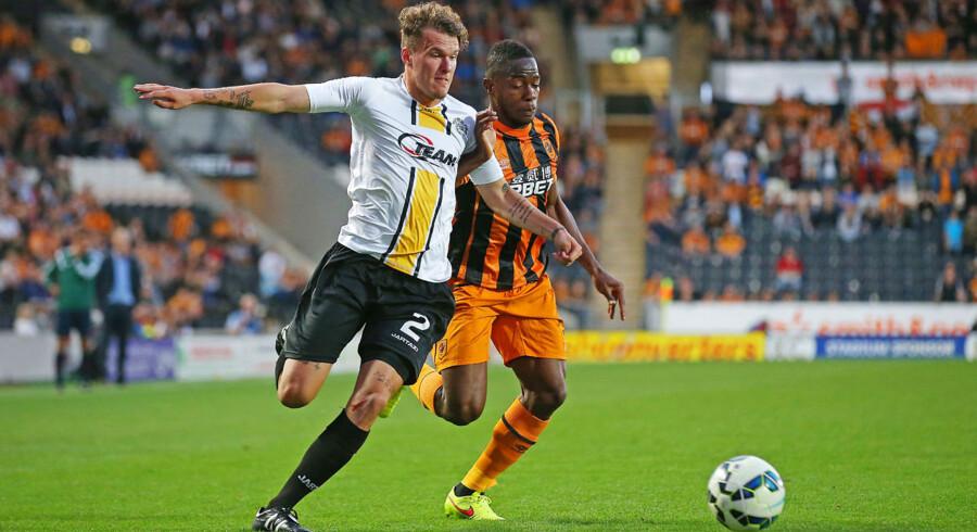 Alexander Scholz spillede endnu en god kamp, da Lokeren sendte Hull ud af Europa League.