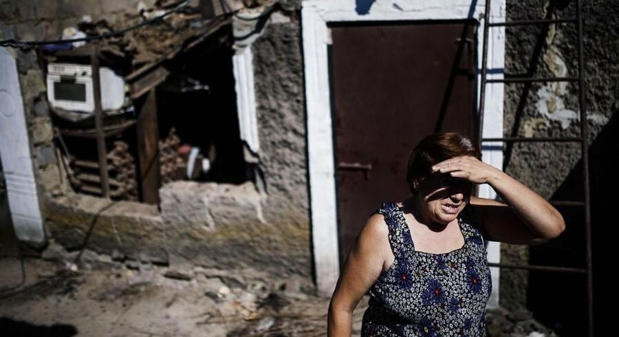 Fronten flytter sig kun lidt i det østlige Ukraine, men civile bliver ofte fanget i krydsilden mellem de stridende parter.