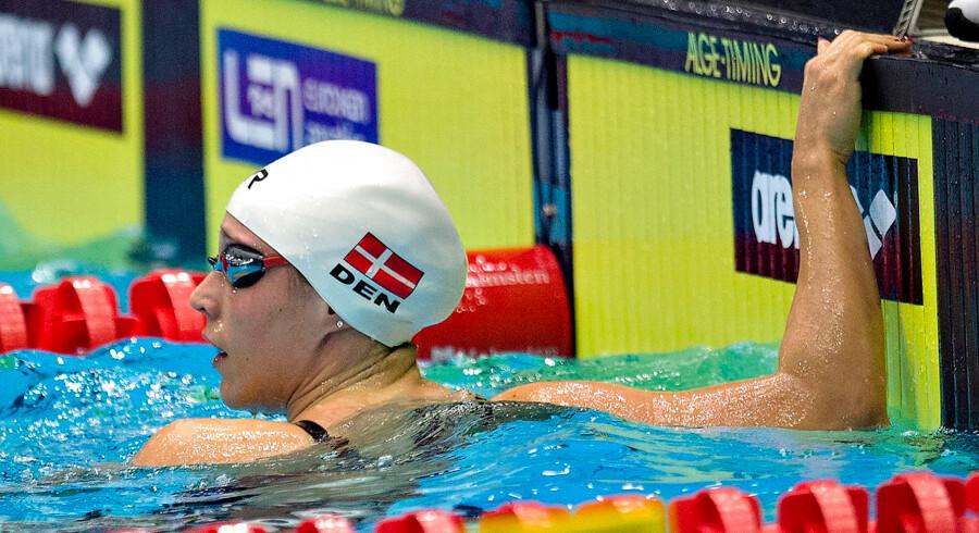 Mie Ø. Nielsen sikrede endnu en medalje til Danmark ved EM i svømning.