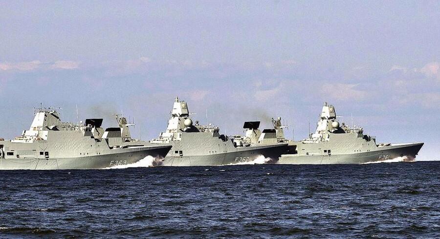 En eller flere af de danske fregatter skal indgå i NATOs missilskjold.