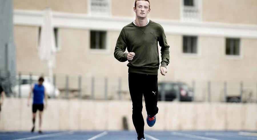 Kristoffer Hari var et stykke fra sit bedste niveau, da han løb indledende heat ved ungdoms-OL. (arkivfoto)