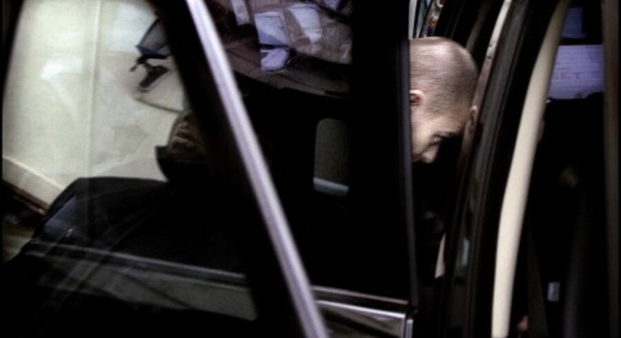 MTV-værten Justin Timberlake sneg sig mellem prøverne ud af bagindgangen på hotel d¿Angleterre. Foto: Brian Berg