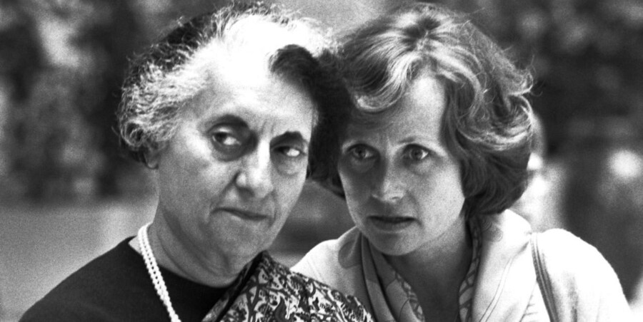 Indiens præsident Indira Gandhi på besøg i Danmark. Her med daværende statsministerfrue Lisbeth Schlüter.