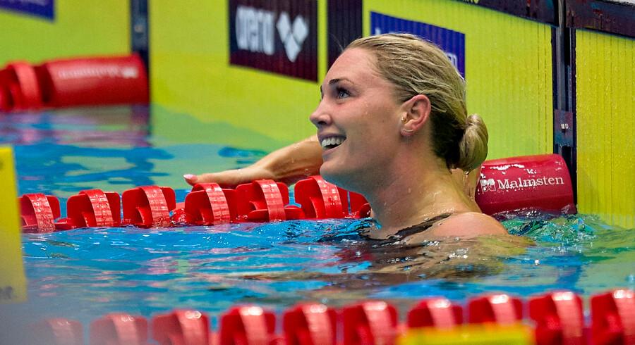 Rikke Møller Pedersen var urørlig i semifinalen i 100 meter bryst. Onsdag aften svømmer hun finalen.