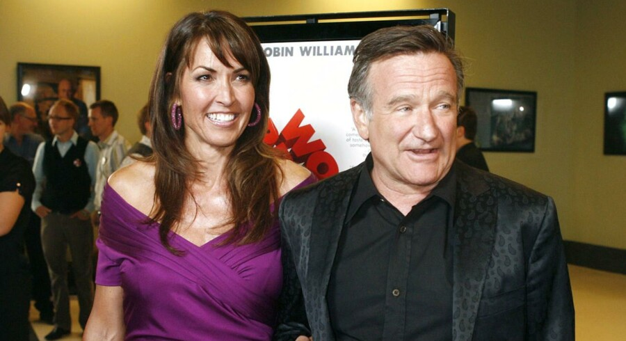 Arkivfoto. Robin Williams i selskab med sin kone Susan Schneider.