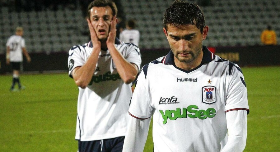 Mate Vatsadze havde mange chancer for AGF torsdag aften, men bolden ville ikke i kassen